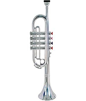 Click n' Play Metallic Silver Kids Trumpet Horn Wind Instrument