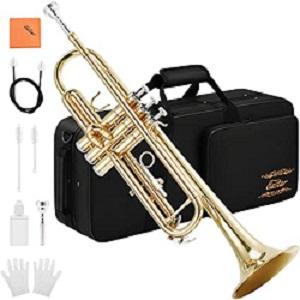 Eastar Gold Trumpet Brass Standard Bb Trumpet Set ETR-380