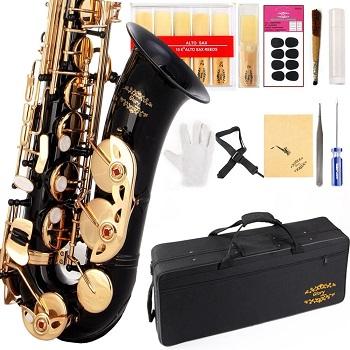 Glory Black/Gold Keys E Flat Professional Alto Saxophone