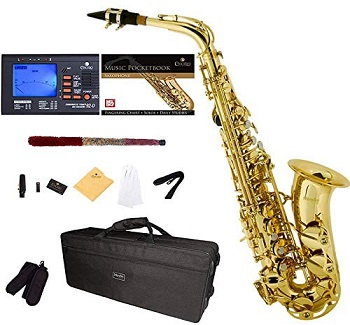 Mendini by Cecilio MAS-L+92D+PB Saxophone