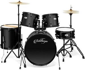 Ashthorpe Adult Drum Set Black