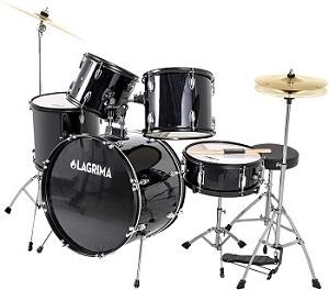 LAGRIMA 5 Piece Full-Size Drum Set