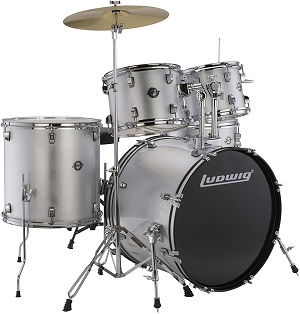 Ludwig 5 Piece Accent Drive Drum Set