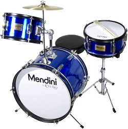 Mendini by Cecilio 16 Inch 3-Piece Kids Drum Set