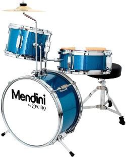 Mendini by Cecilio 3-Piece Kids Drum Set
