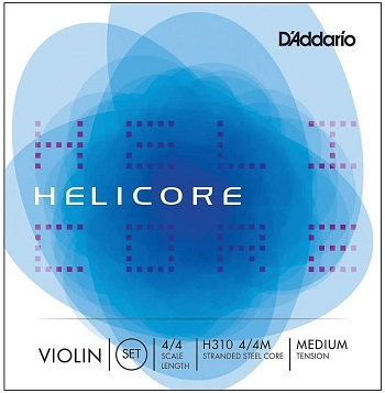 D'Addario Helicore Violin Strings Set with Steel E String