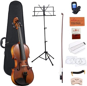 ADM Full Size 4-4 Acoustic Violin Set