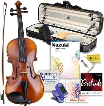 Antonio Giuliani Primo Violin Full Size Bundle By Kennedy Violins