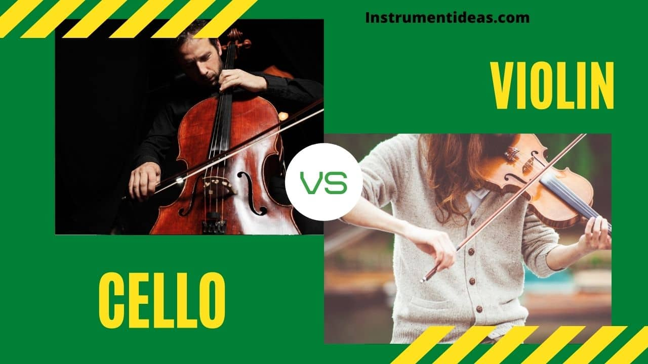 difference between cello and violin